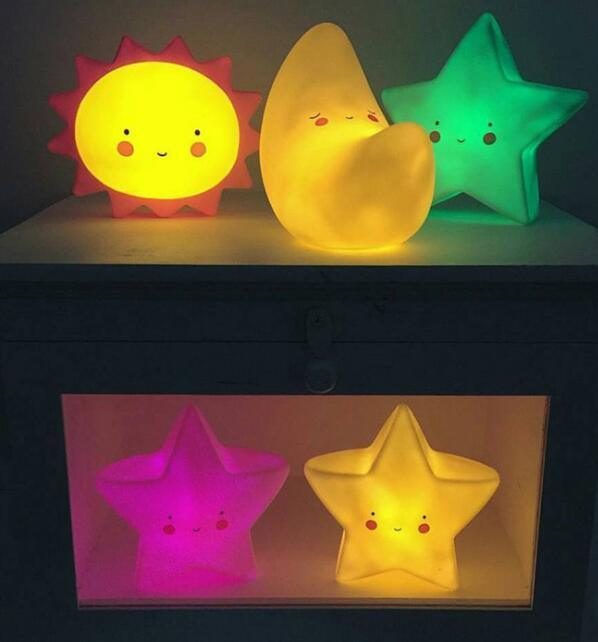 Sun Moon Star Cloud Kids Nursery Night Light with Pivate Label