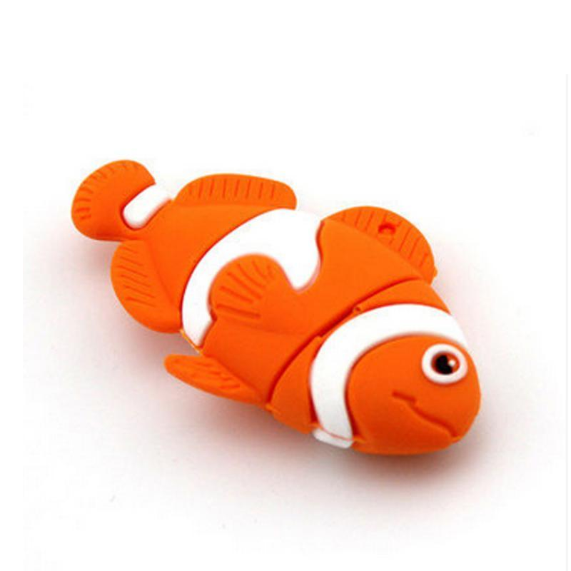 Customized PVC Fish USB Flash Drive Company Gift