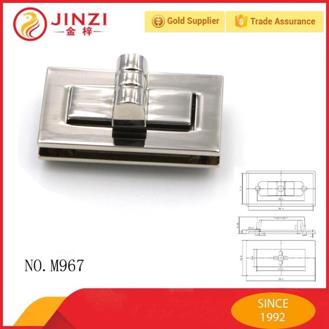 Factory Supplier Custom Fashion Bag Decorative Metal Twist Locks
