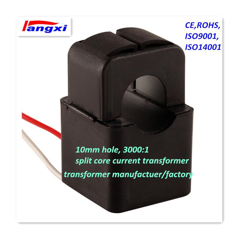 3000: 1 10mm Hole 0.5class Split Core Current Transducer/ Current Transformer for Power Measurement