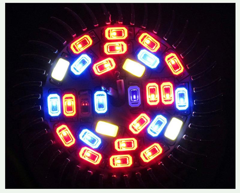 8W E27 GU10 E14 Full Spectrum LED Plant Growing Lamp