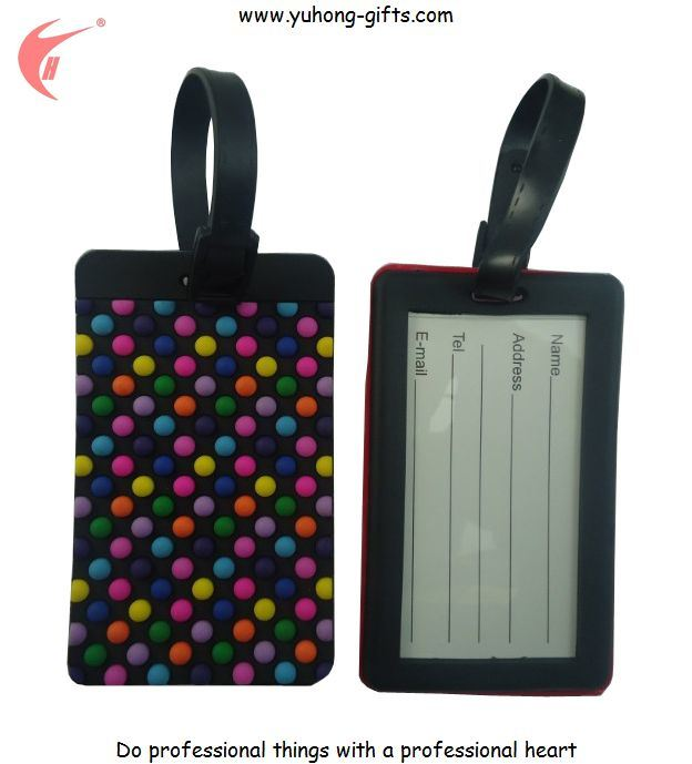 2014 Soft PVC Custom Luggage Tag for Promotion Gifts (YH-LT009)