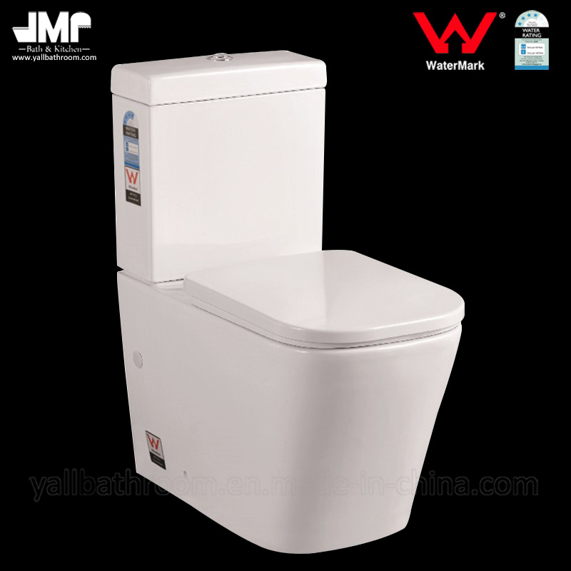 Watermark Dual Flush Bathroom Two Piece Ceramic Toilet