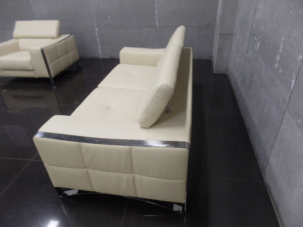 Modern Corner Sofa with Genuine Leather Living Room Sofa