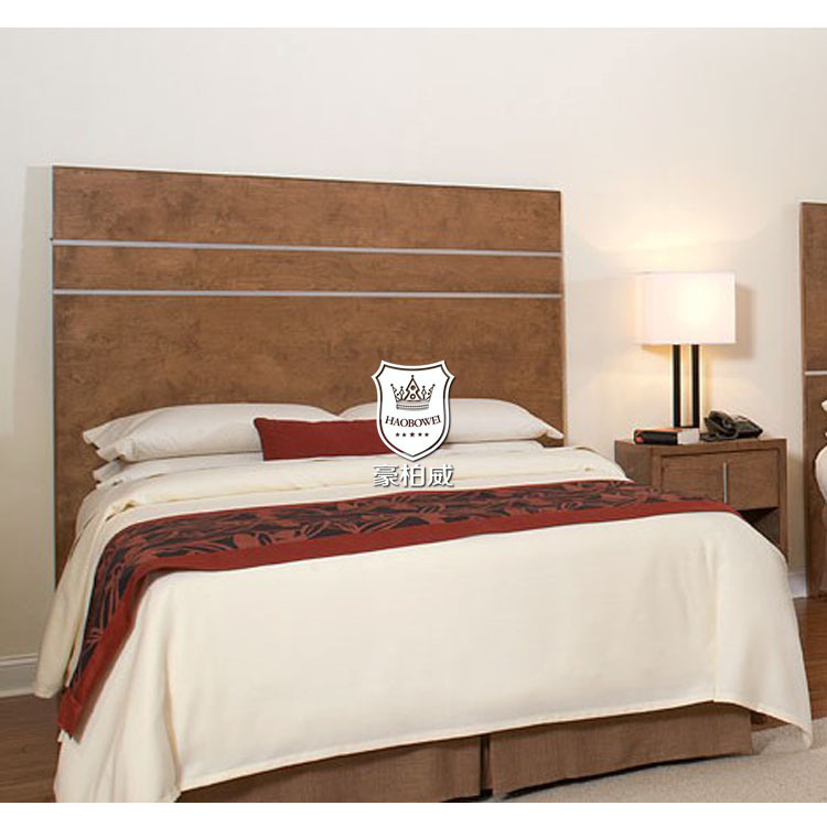 Chinese Hotel Bedroom Furniture Set Upholstered with Quality Fabric