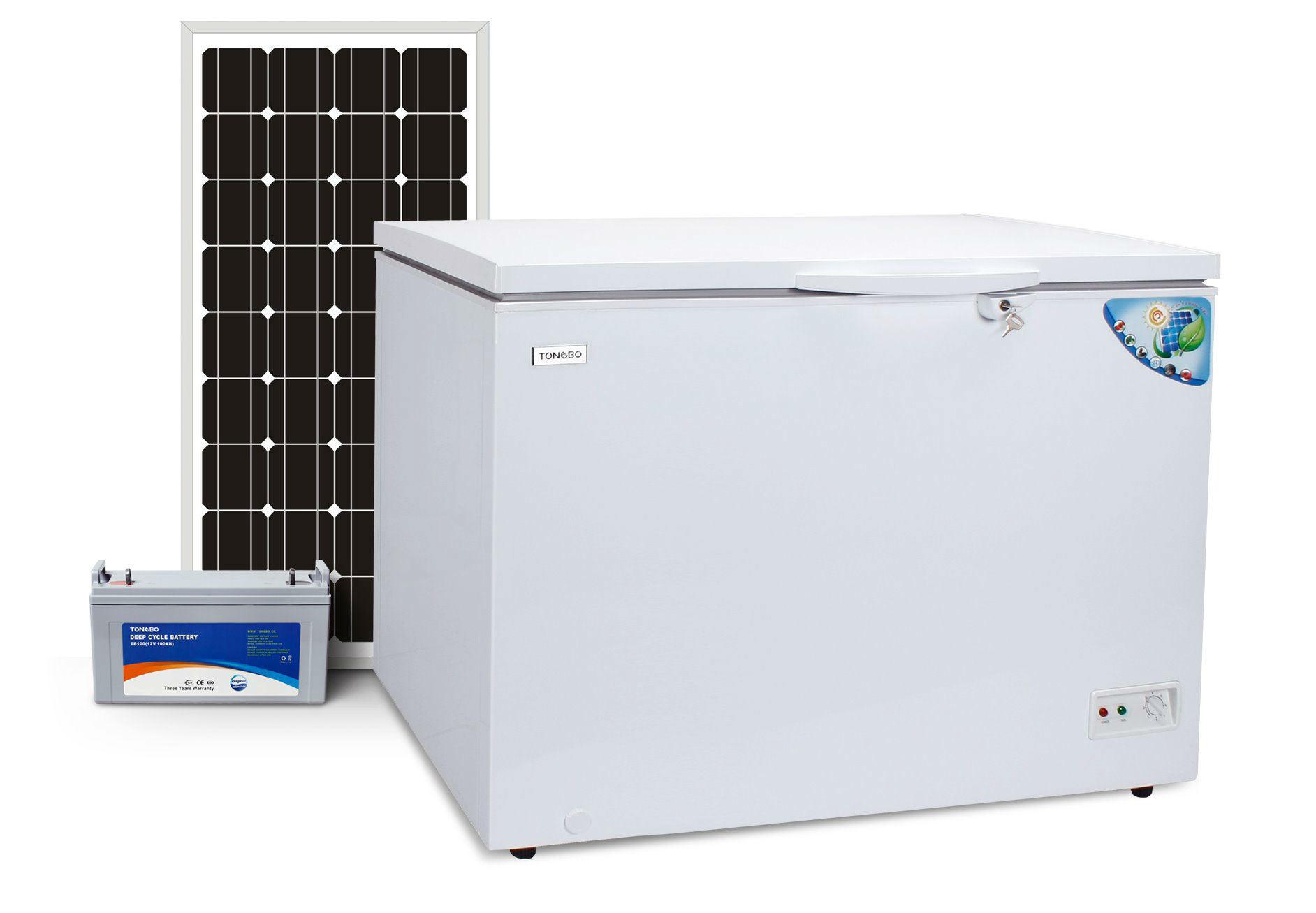 off Grid 100% Solar Powered DC 12V 24V Chest Freezer 282L