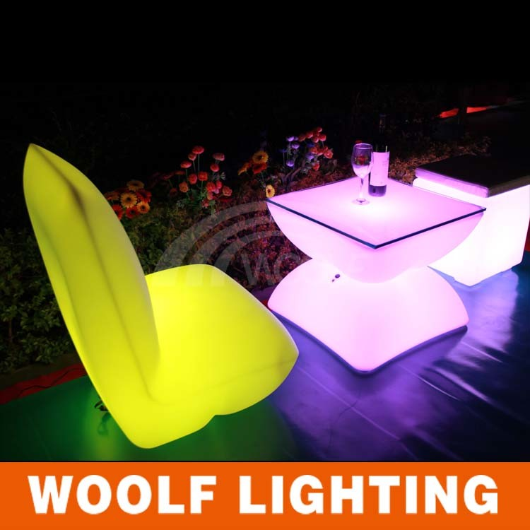 Living Room LED Sofa/Glowing Bedroom Furniture LED Beach Sofa Bed