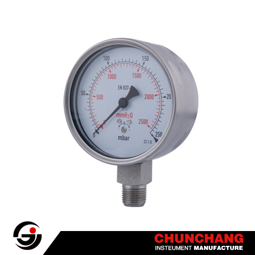 Capsule Pressure Gauge with Low Pressure