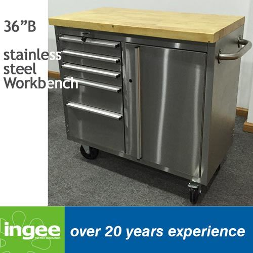 36in Stainless Steel One Door Workbench
