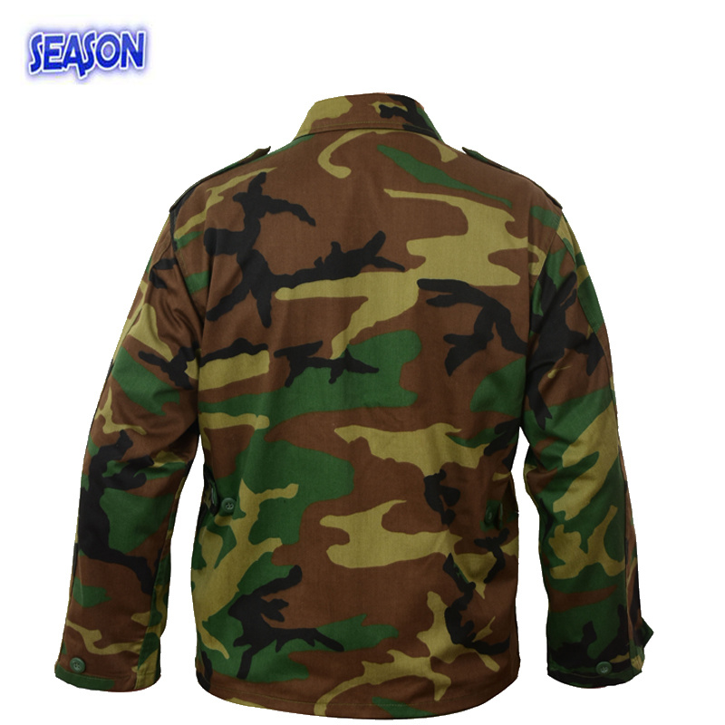 Reactive Printed Forest Camouflage Safety Clothes Military Uniforms Jacket Clothing