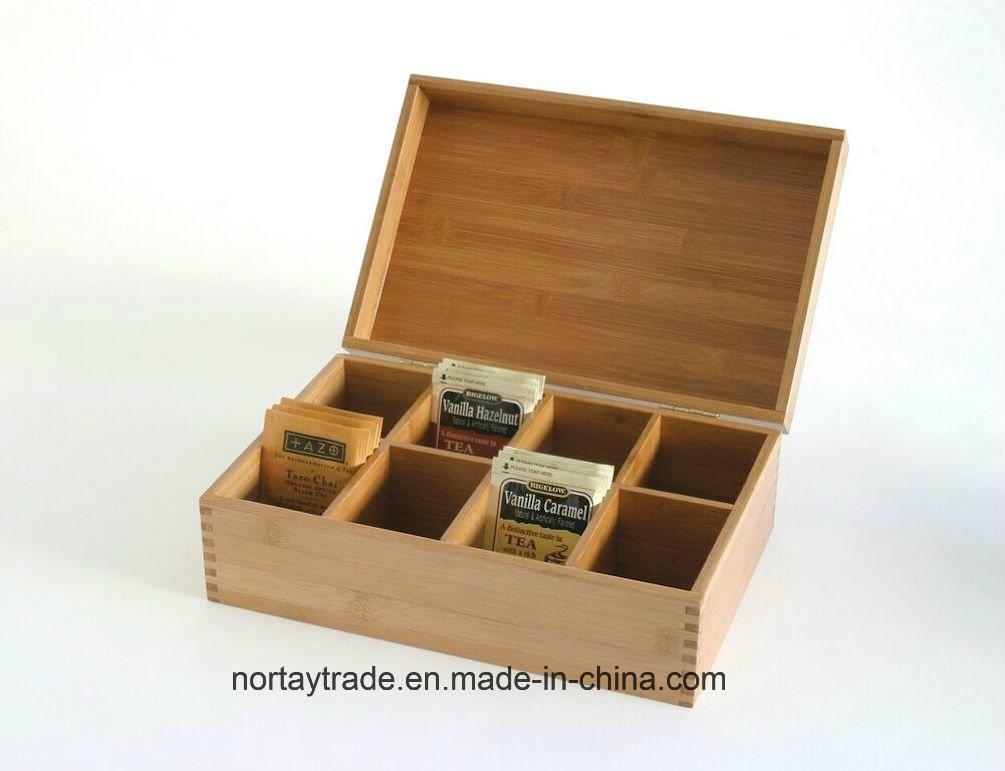 Nortay Bamboo Tea Storage Box Natural Finished