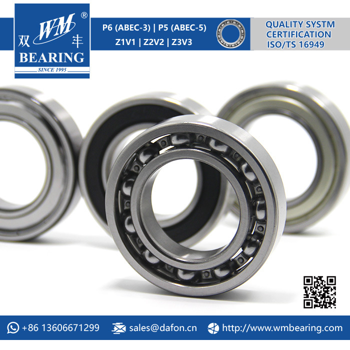 6007 Zz 2RS Deep Groove Ball Bearing for Machinery
