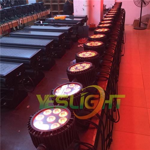 New LED Flat PAR Light 9PCS*18W UV+RGBWA LED PAR 64 for Disco Light