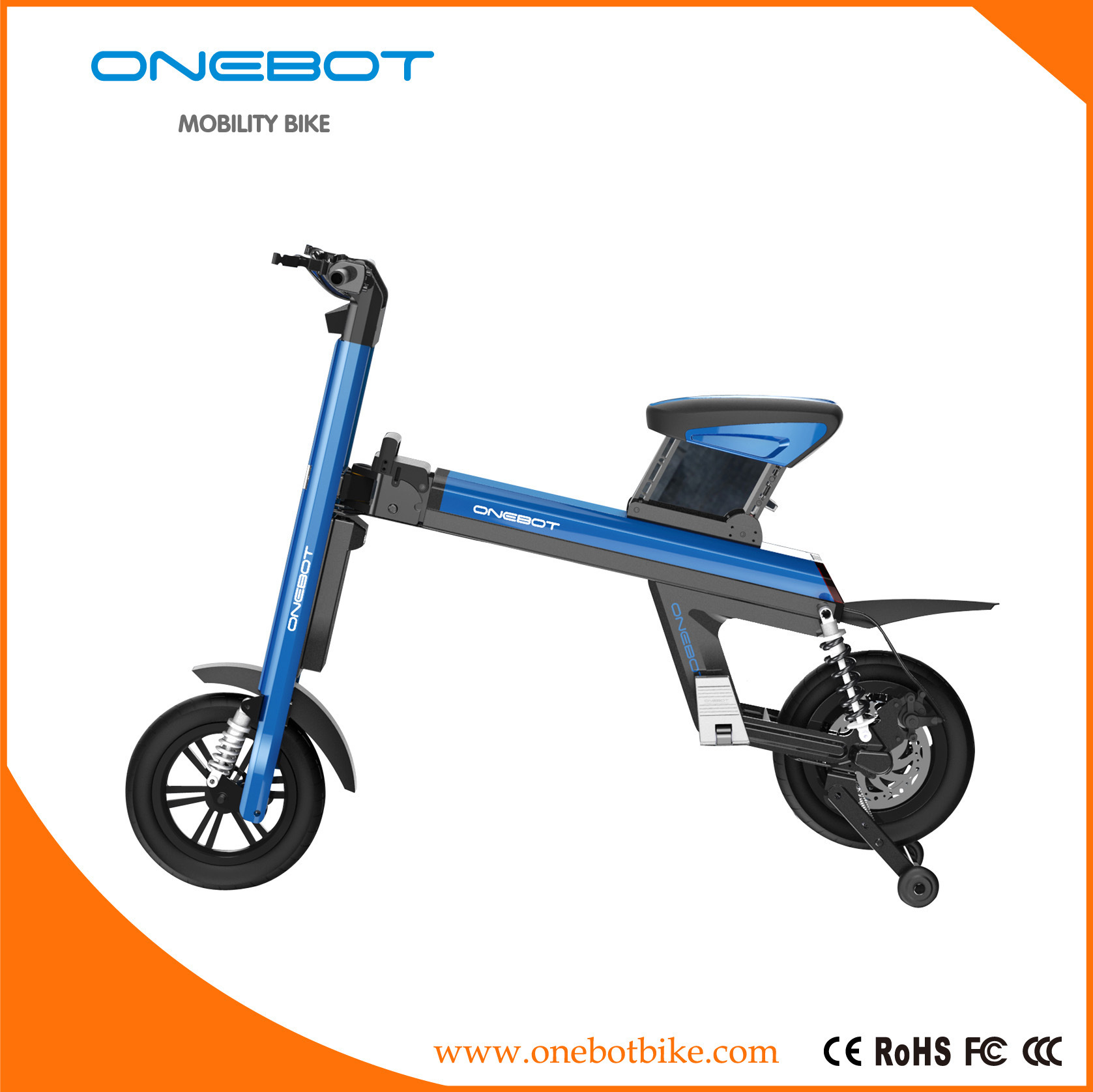 Electric Bike, Electric Motorcycle, Folding Ebike Panasonic Battery 500W Motor, Urban Mobility Bicycle