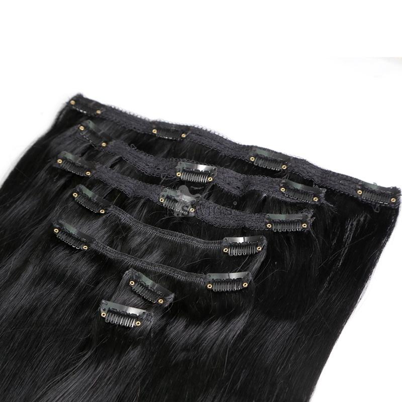 100% European Human Virgin Clip in Hair Extension