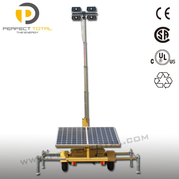 200W LED Solar Light Tower