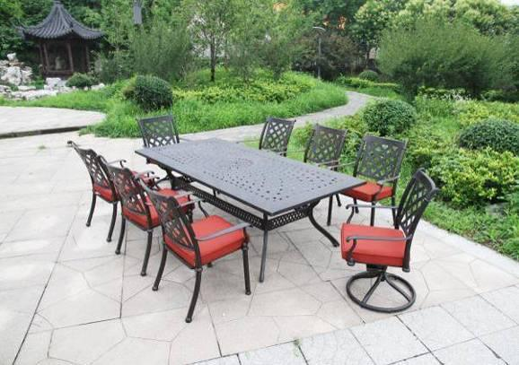 Classic 9PC Dining Set Aluminum Outdoor Furniture