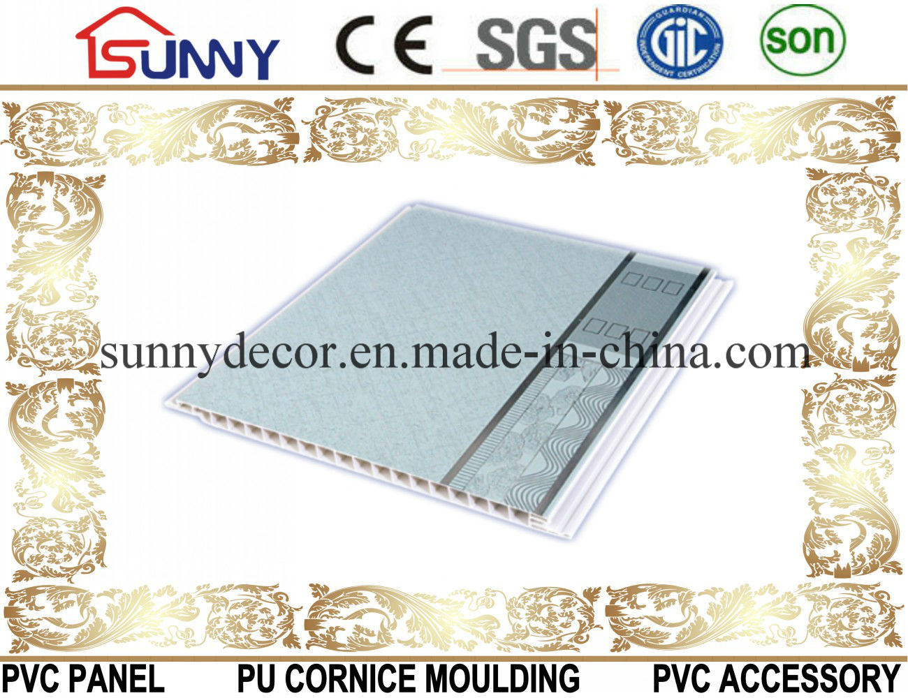 PVC Panel-PVC-Ceiling-PVC Wall Panel-PVC Printing Panel for Decoration
