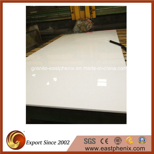 Pure White Nano Crystallized Glass Stone for Countertop/Wall Tile
