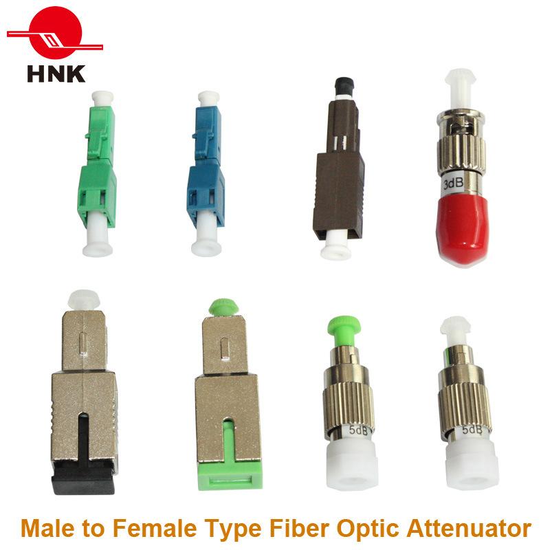 FC/Sc/St/LC/Mu Singlemode Multimode Male to Female Fix Fiber Optic Attenuator