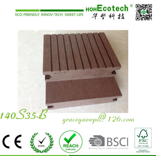 Anti-Corrosion WPC Flooring Weathering Proof Slate Plank Beech Composite Decking