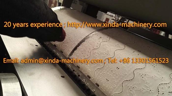 PVC Lace Gilding Cup Mat Production Line Machine