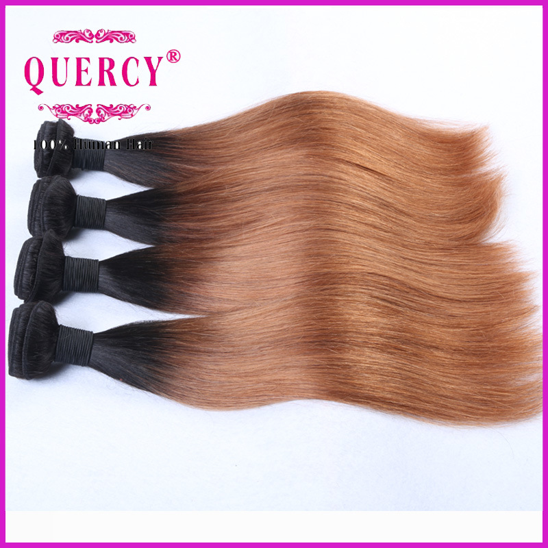 2016 Hot Sale Brazilian Omber Colour Hair Weft, 8-32 Inch Natural Virgin Human Hair