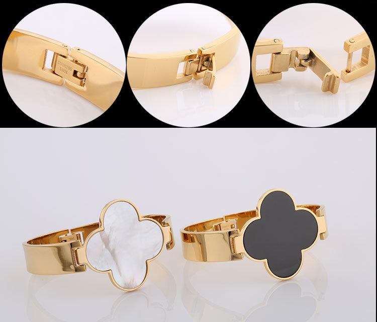 Fashion Jewelry Four-Leaf Clover Bracelet Stainless Steel Bracelet