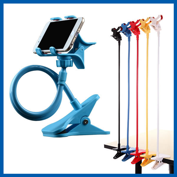 Universal Cell Phone Clip Holder Lazy Bracket Flexible Long Arms for iPhone GPS Devices