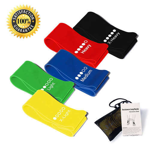 12 Inches Latex Elastic Loop Resistance Band for Exercise with Logo