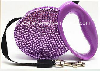 Fashionable Reshinestone Retractable Dog Leash Pet Collars & Leashes