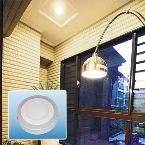 LED Ceiling/Hot Sell Double Color Round Panel Light