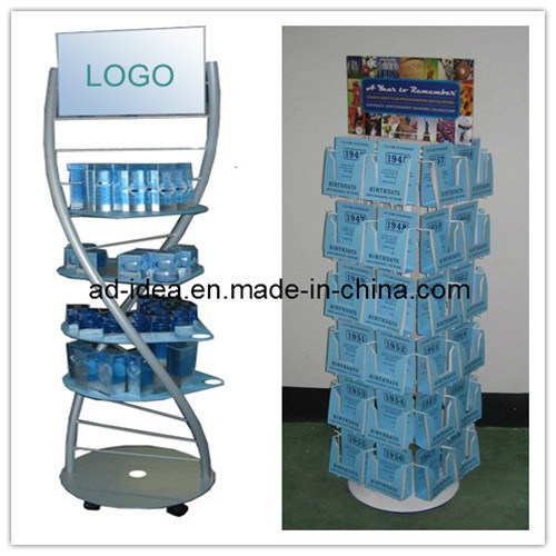 Wire Display Rack/Three Net Bag Display Stand/Banner Stand (RACK-09)