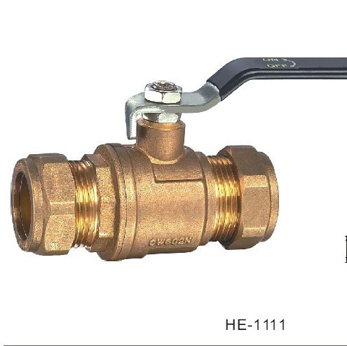 (HE1110--HE1111) Brass Ball Valve Pn40 with Level Handle for Water, Oil