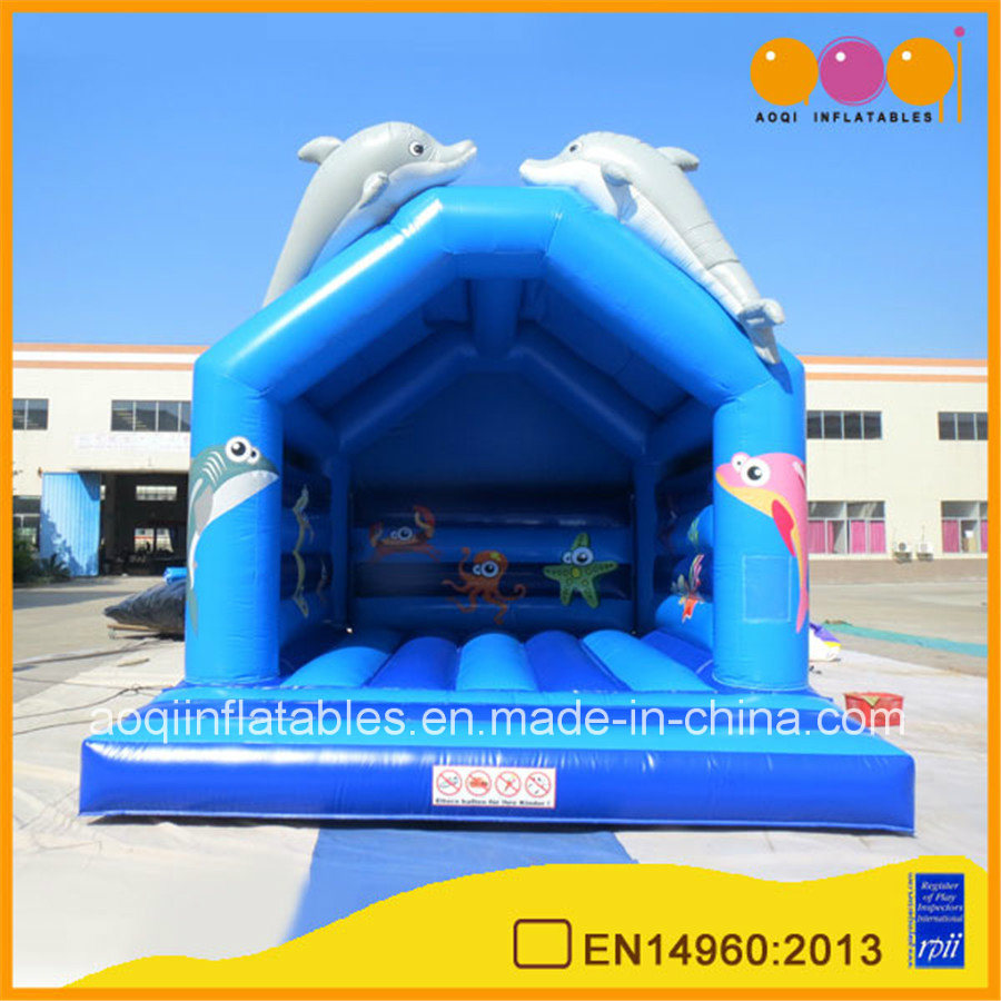 Blue Dolphin Inflatable Jumping Bouncer (AQ02280)