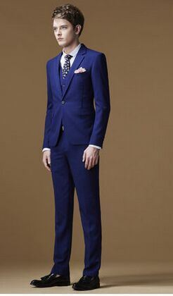 2016 Latest Fused Suit Men Wedding and Business Suit