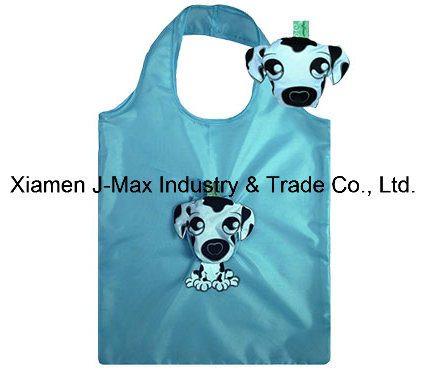 Foldable Shopping Bag with 3D Pouch, Animal Sheep Style, Reusable, Grocery Bags and Handy, Gifts