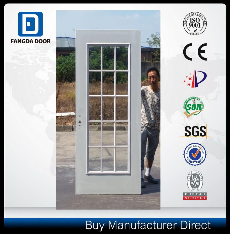 15 Full Lite French Steel Glass Door