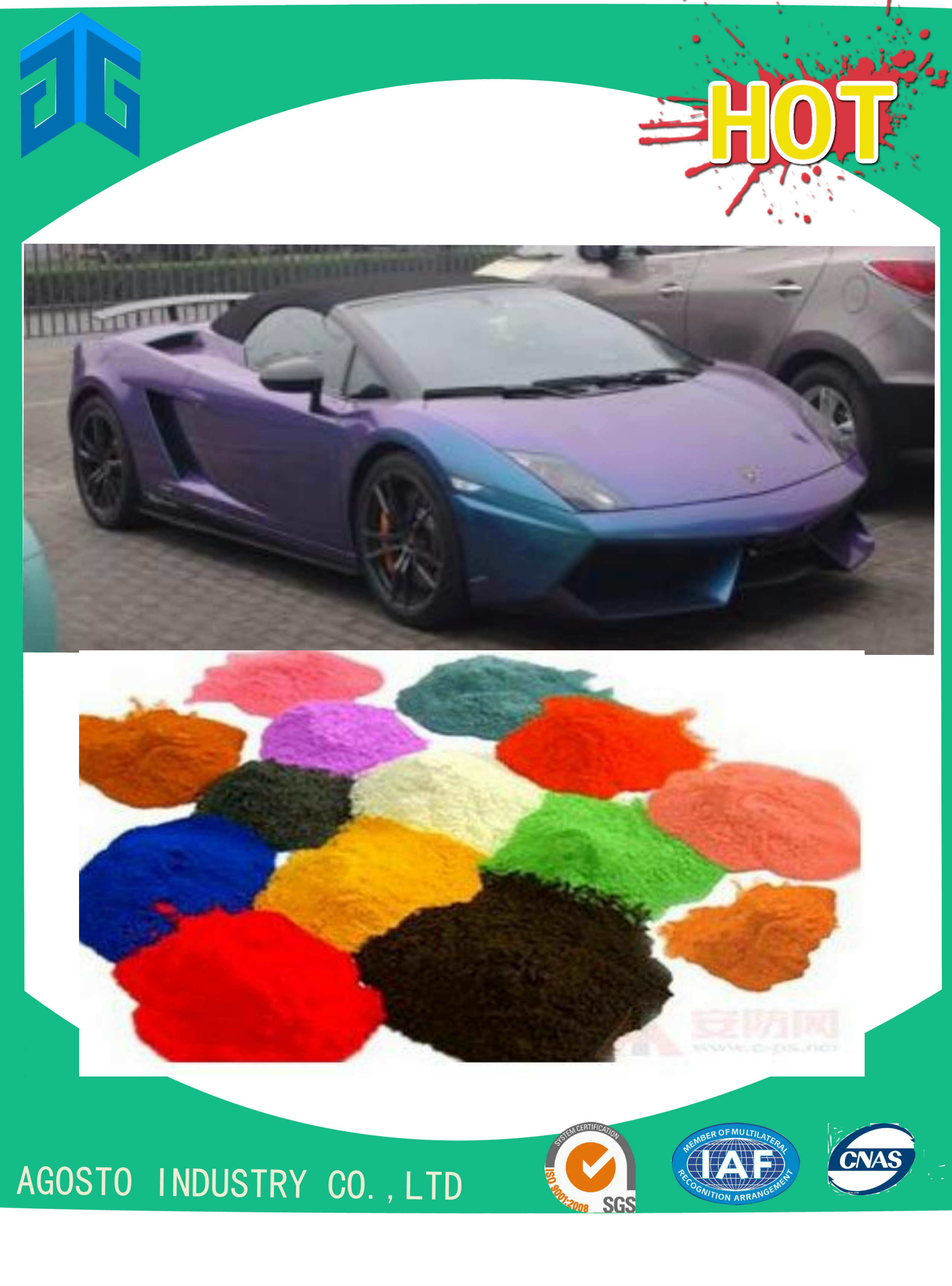 China Factory′s Pearlescent Pigment for Car Care
