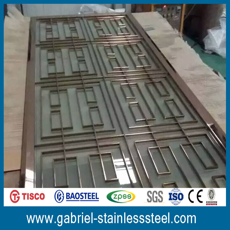 Laser Cut Decorative Stainless Steel Room Divider/Screen