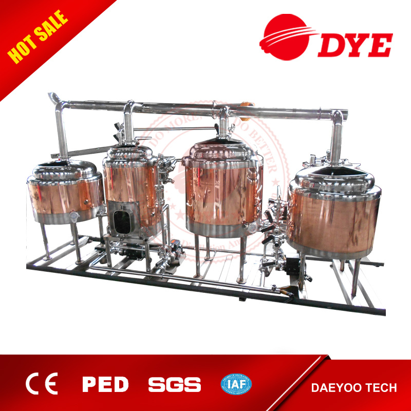 Four Vessles Small Brewing System