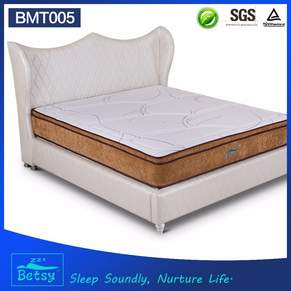 OEM Resilient Hotel Mattress 28cm with Relaxing Pocket Spring Knitted Fabric and Memory Foam Layer
