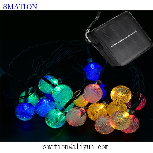 Solar RGB Fancy LED Garden Christmas Flower Decorative Acrylic Spot Bar Stick Lawn Light