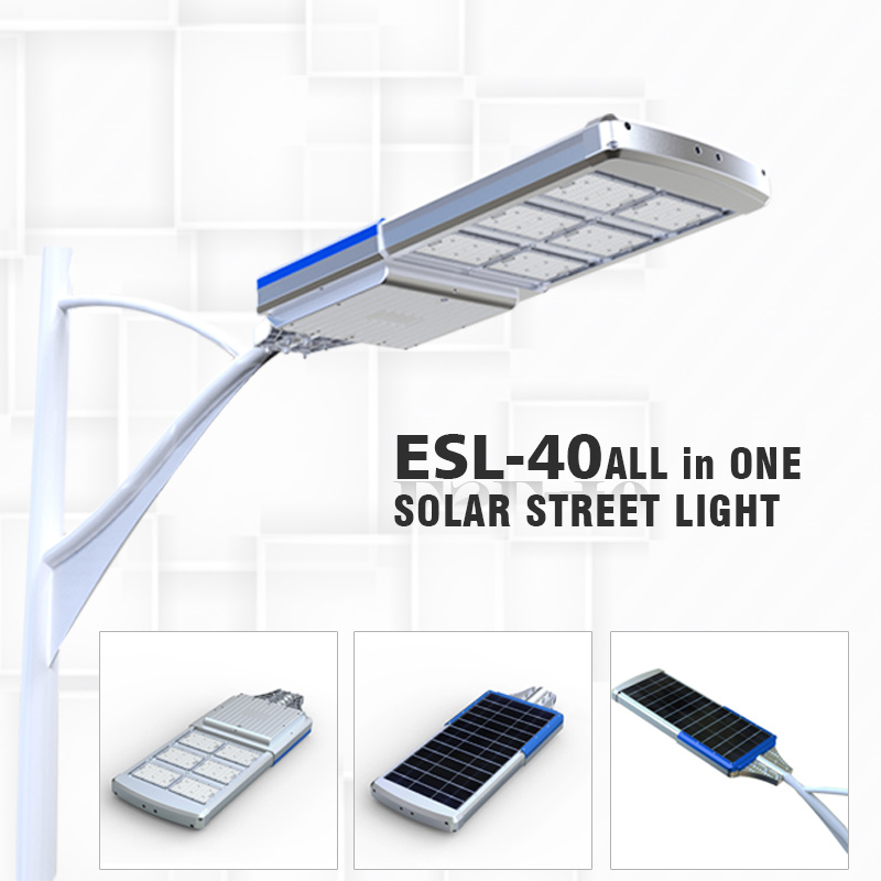 40W All in One Waterproof LED Solar Light for Street Lamp Pole Outdoor Garden