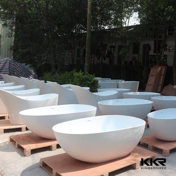 Artificial Stone Whirlpool Freestanding Bathtub for Hotel