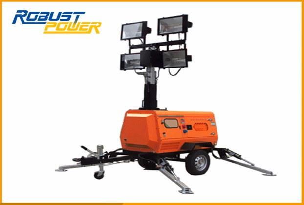 Oil Refineries Kubota Diesel Emergency Outdoor Mobile LED Lighting Tower