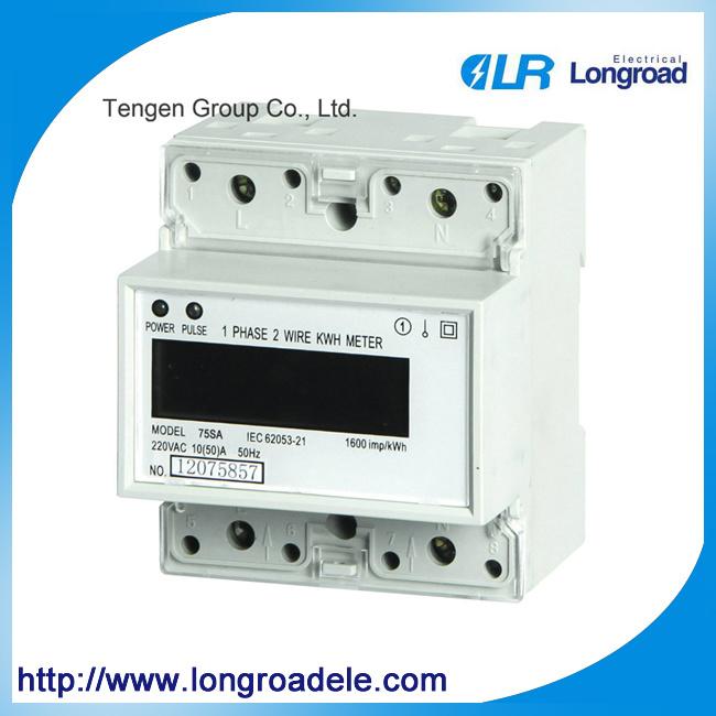 Mini Type Din Rail Installation Single Phase Electronic Watt-Hour Meter