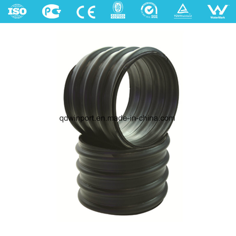 Steel Strip Reinforced HDPE Spiral Corrugated Pipe for Drainage