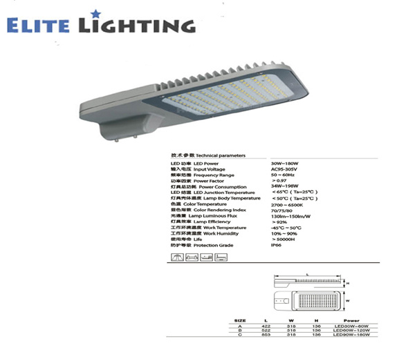 High Power and High Efficiency Solar LED Street Light