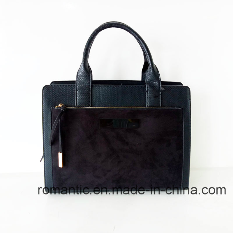 Fashion Brand Designer Women PU Suede Briefcase (NMDK-051646)